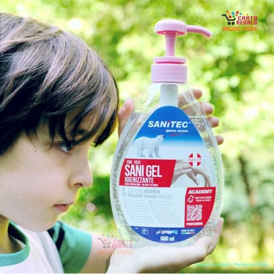 SANI GEL igienizzante mani 600ml con dispenser
