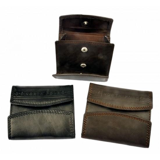 Mini portafoglio e portamonete NERO