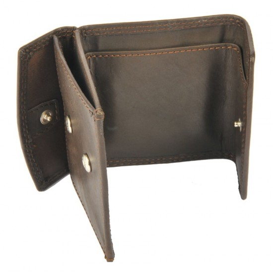 Mini portafoglio e portamonete MARRONE SCURO